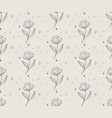 line floral seamless pattern with stars vector image vector image