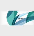 linear wave web template vector image vector image