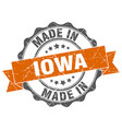 made in iowa round seal vector image vector image
