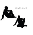 man in Sitting Pose On Ground vector image vector image