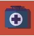 medical bag case first help vector image vector image