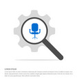 office chair icon search glass with gear symbol vector image