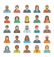 People faces avatars flat thin line icons vector image