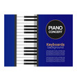 piano classic music concert live classical or vector image