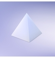 Pyramid basic geometric shape vector image vector image