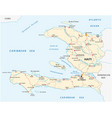 republic of haiti road map vector image vector image