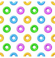 seamless pattern with flat colored lifebuoys vector image vector image
