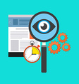 Search optimization concept Flat design Isolated vector image vector image