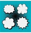 set bubble speech dottedblue design vector image