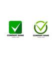 set check mark logo or icon vector image vector image