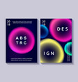 set creative design posters vector image vector image