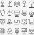set linear business education icons - part 1 vector image vector image
