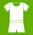 sport shirt and shorts icon green vector image vector image