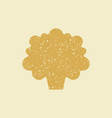stylized flat icon of a cauliflower vector image