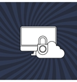 Technology icon security system concept Flat vector image