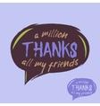Thanks handwritten lettering vector image