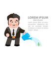 the man watering a plant - the capital vector image vector image