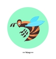 The symbol of the wasp in style flat vector image vector image