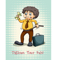 Tighten your belt idiom expression vector image vector image