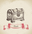 Treasure chest hand drawn vector | Price: 1 Credit (USD $1)