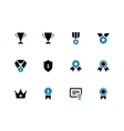 Trophy duotone icons on white background vector image vector image