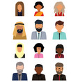 ulticultural society concept man and woman vector image vector image