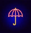 umbrella neon sign vector image