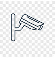 webcam concept linear icon isolated on vector image
