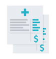 medical invoice or hospital bills icon vector image