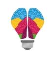 Brain icon human organ design graphic vector image