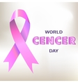 World cancer day banner card vector image