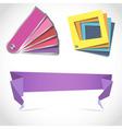 Creative design color scheme palettes vector image