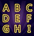 modern lighting alphabet vector image