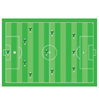 4-3-3 soccer scheme vector image vector image