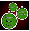 Abstract green Christmas balls vector image vector image