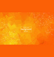 abstract orange geometric polygonal background vector image vector image