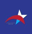 abstract star logo vector image vector image