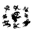 black halloween ghost around background vector image vector image