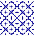 blue and white chinese seamless pattern vector image vector image