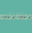 christmas horizontal seamless border vector image vector image