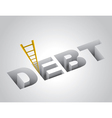 Climbing Out of Debt vector image