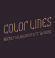 color lines alphabet iridescent letters font vector image vector image