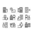 contactless payment icon thinline style symbols vector image