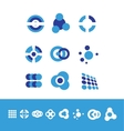 Corporate business logo set circle vector image vector image