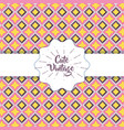 cute vintage modern graphic background design vector image