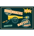 Design for wine event Winemakers battle party vector image vector image