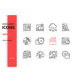 development - modern line design style icons set vector image