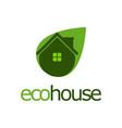 Eco house nature logo design template