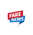 fake news isolated icon sign main news vector image vector image