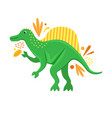 flat isolated cartoon dinosaur vector image